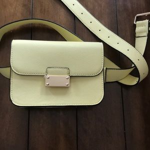 Used Once! Belted Yellow Fanny Purse!